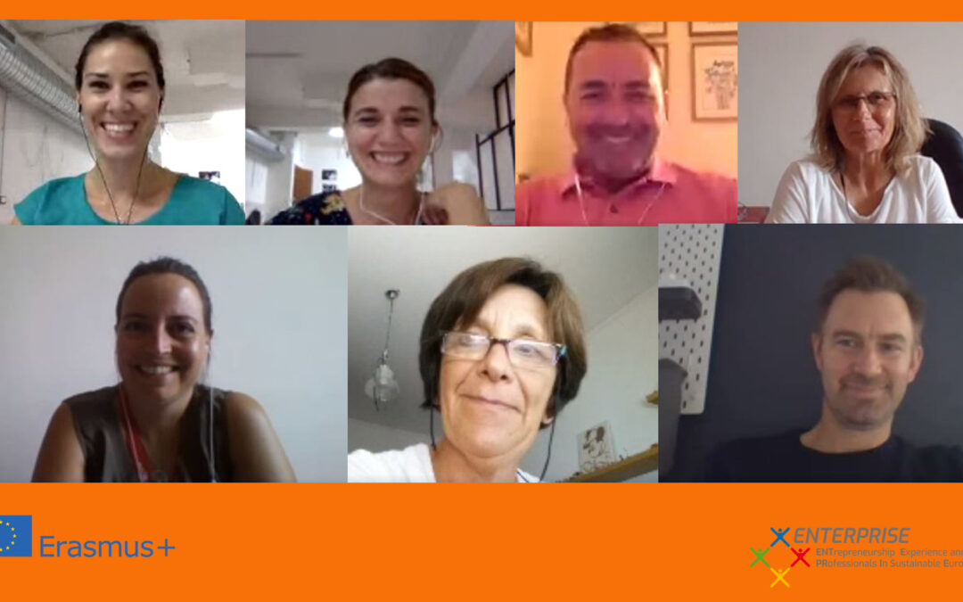 All the consortium met for an online conference in occasion of the monthly meeting of the project